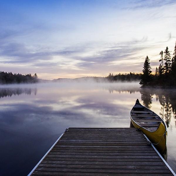 Lago en La Maurice sobrevuelo fotográfico opcional