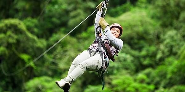 Tirolinas Monteverde en el viaje de luna de miel a Costa Rica