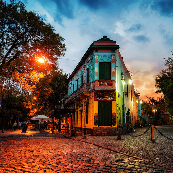 Viaje a Argentina, Buenos Aires, La Boca al atardecer