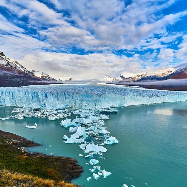 Glaciar Perito moreno en El Calafate, Patagonia argentina