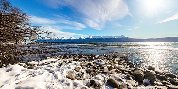 Lago Fagnano en Ushuaia, Patagonia Argentina