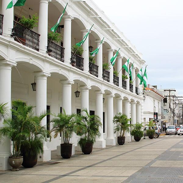 Plaza 24 de Septiembre en Santa Cruz, Bolivia