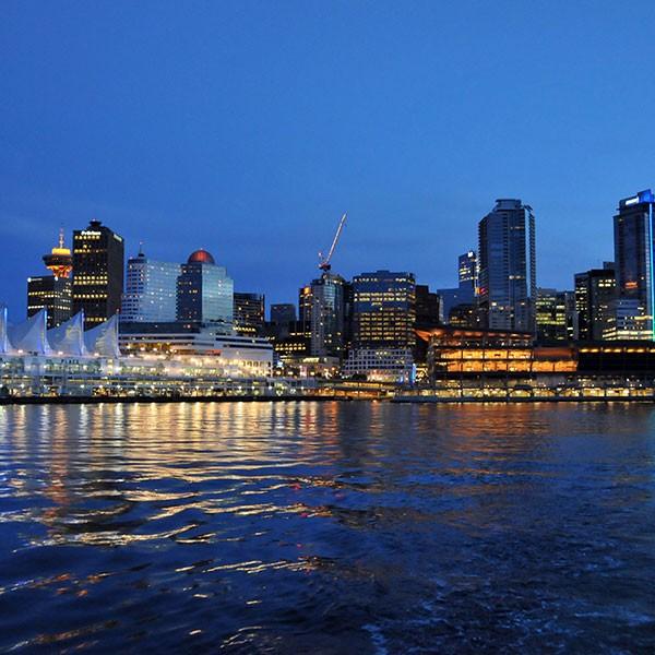 Vancouver nocturna, Canadá