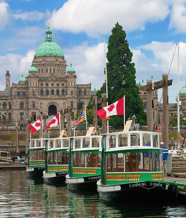 Ferry a Victoria, en la isla de Vancouver, Canadá