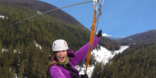 Zip Trek en Whistler, actividad extra en fly and drive oeste canadiense
