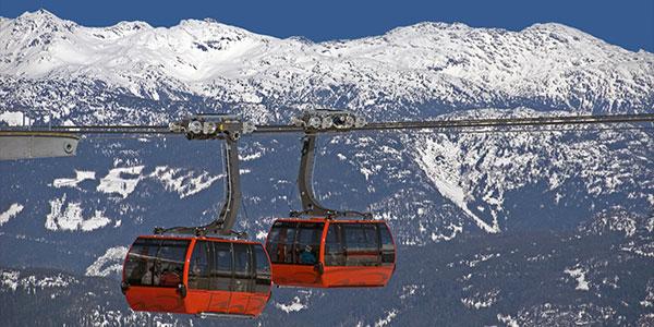 Teleférico Peak 2 Peak en Whistler, Canadá