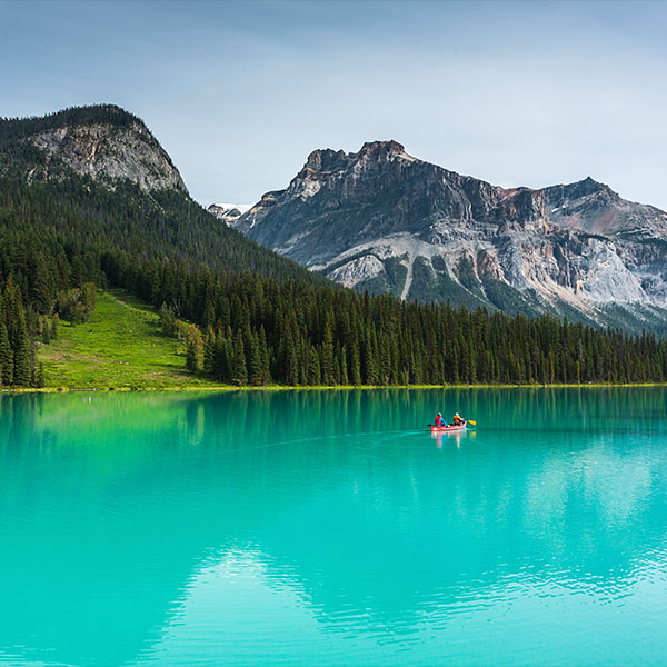 Emerald Lake en el Parque Nacional Yoho en Canadá