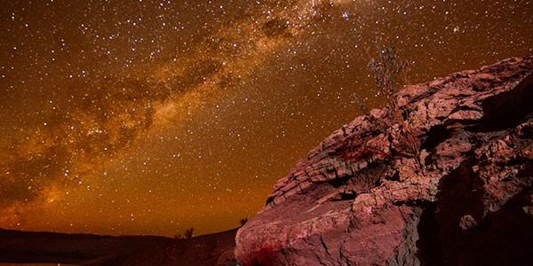 Sesión de arqueoastronomía en Atacama, Chile