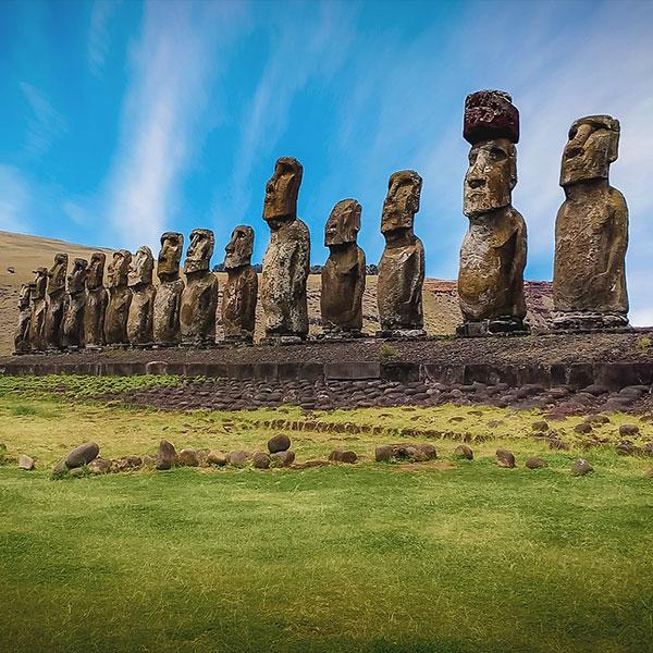 Chile Isla de Pascua Moais de Rapa Nui