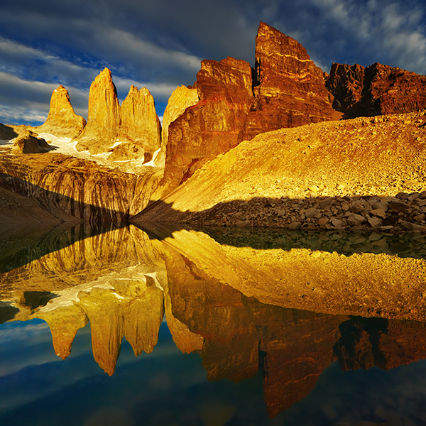 Torres del Paine en la Patagonia chilena