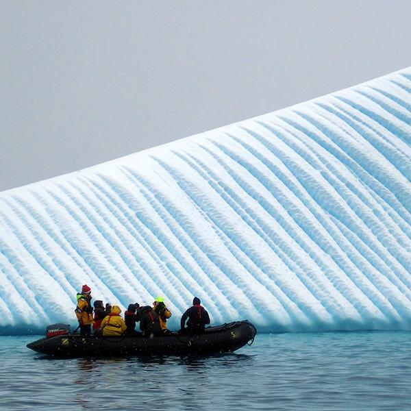 Crucero en la Antártida, navegación y desembarcos diarios
