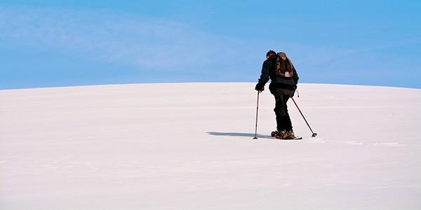 Ruta a pie con raquetas de nieve por la Antártida
