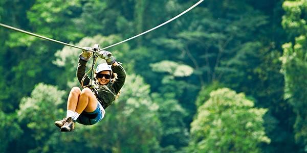 Tirolinas en Arenal, Costa Rica