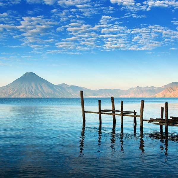 Lago Atitlán en el viaje a Guatemala y Belice