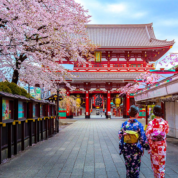 Templo rojo Senso ji en Tokio