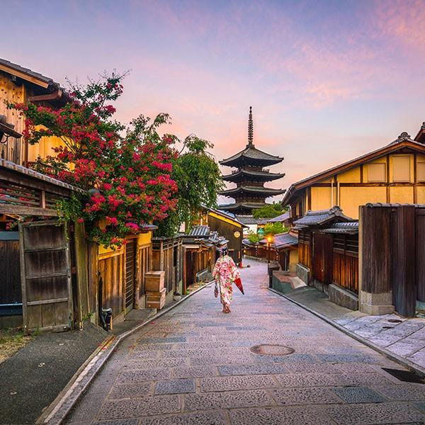 Barrio de las geishas en Kioto, Japón