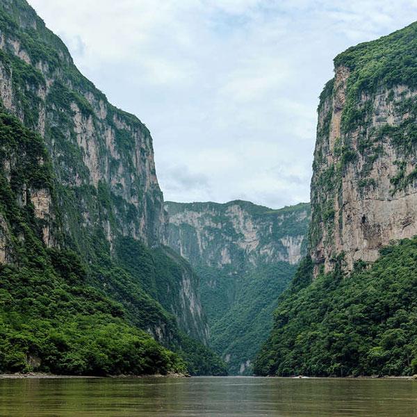 Cañón del Sumidero, en el viaje a México a medida