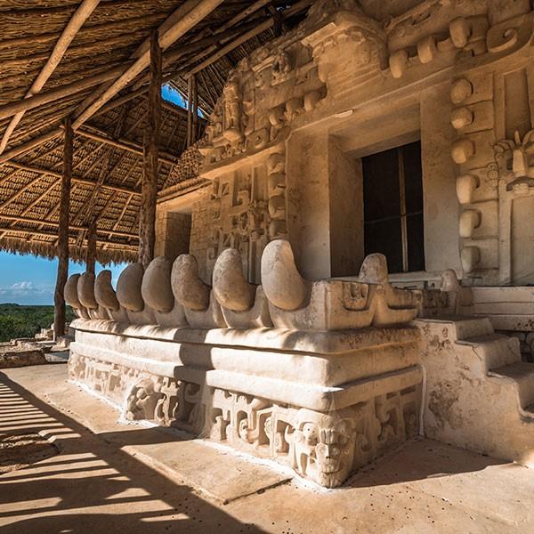 Sitio arqueológico de Ek-Balam, en ruta en el fly and drive por Yucatán