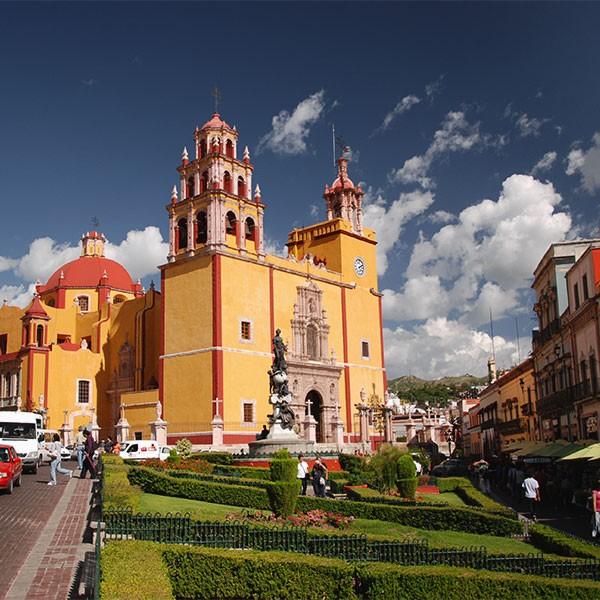 Hermosa ciudad colonial de Guanajuato, México