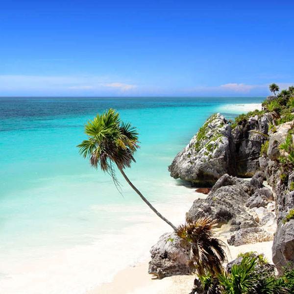 Playa de la Riviera Maya, Península de Yucatán, fin del viaje fly and drive