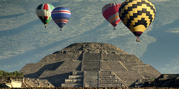 Sobrevuelo en globo de Teotihuacán
