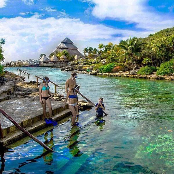 Parque Xcaret en la Riviera Maya, ideal para toda la familia en el viaje a México