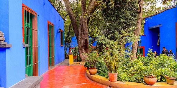 Casa Azul de Frida Kahlo en el barrio de Coyoacán, Ciudad de México