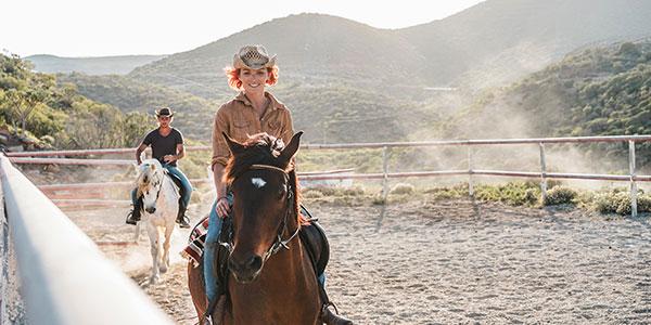 Paseo a caballo en un rancho de San Miguel de Allende