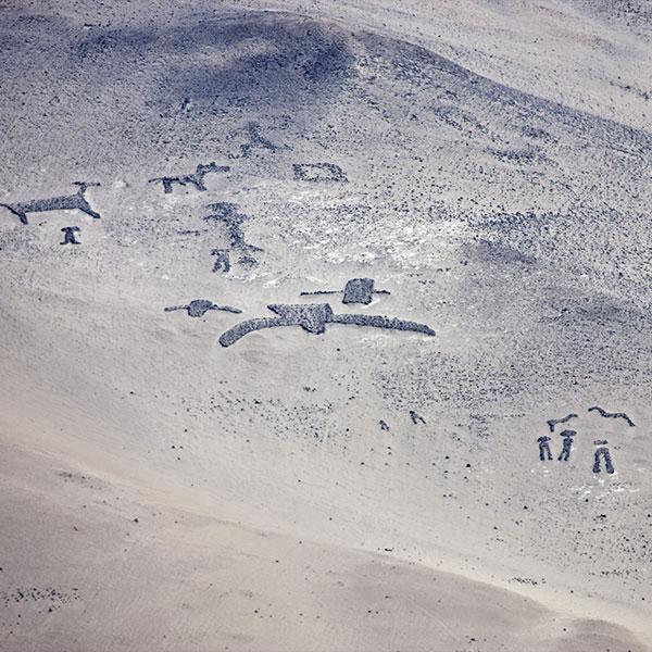 Geoglifos en el Valle de Azapa en el viaje por el norte de Chile