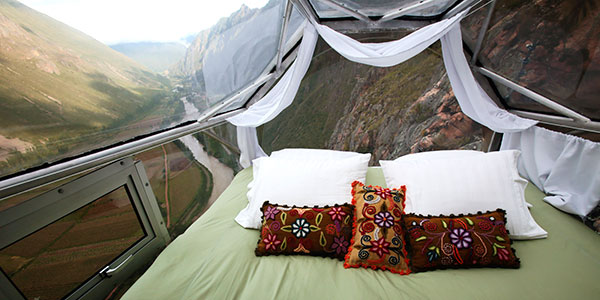 Skylogde Adventure Suites, alojamientos suspendidos sobre Valle Sagrado en Perú