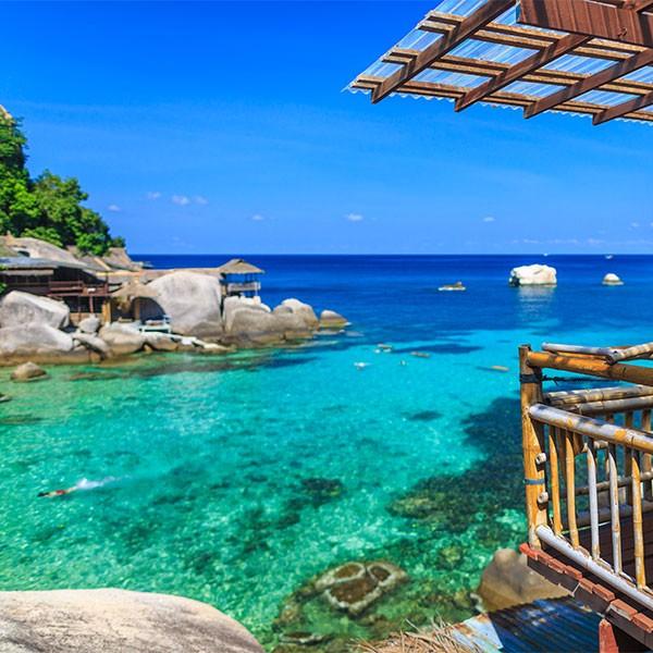 Playa de Koh Samui en el combinado Tailandia Camboya