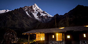 Alojamiento en lodges de montaña en el trekking Salkantay 4 días