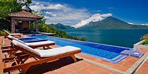Hotel lujo 5 estrellas Casa Palopó en Lago Atitlán