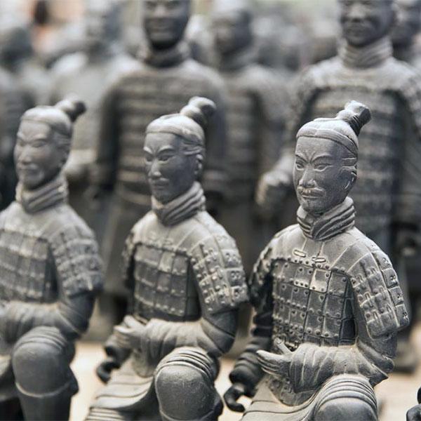 Guerreros de Xian, estatuas de terracota, China