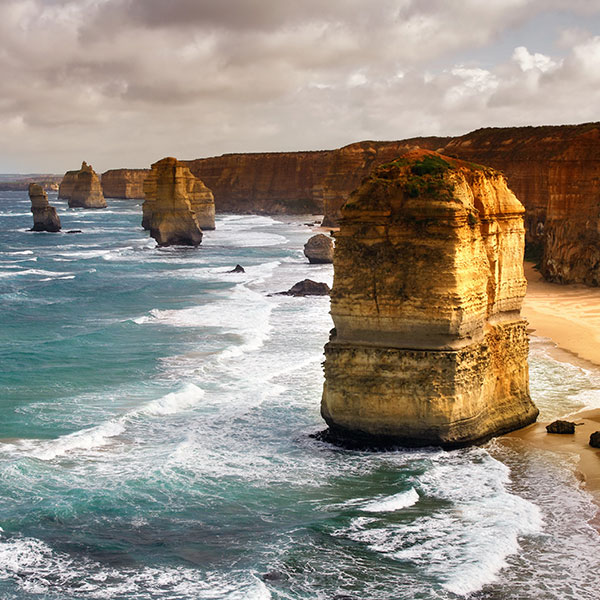 los 12 apóstoles en Sunshine Coast, en el viaje de tres semanas por Australia