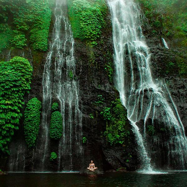 Cascada en Munduk, Bali