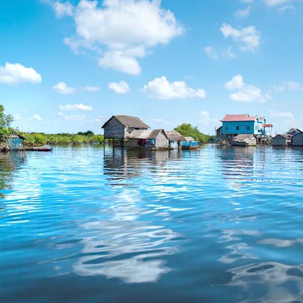 Lago Tonle Sap en Camboya