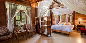 Cat Tien jungle Lodge alojamiento de turismo sostenible en Vietnam