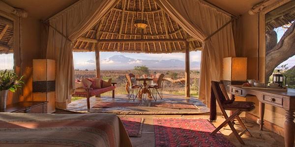 Elewana Tortilis Camp, Alojamientos de lujo en los safaris en Amboseli