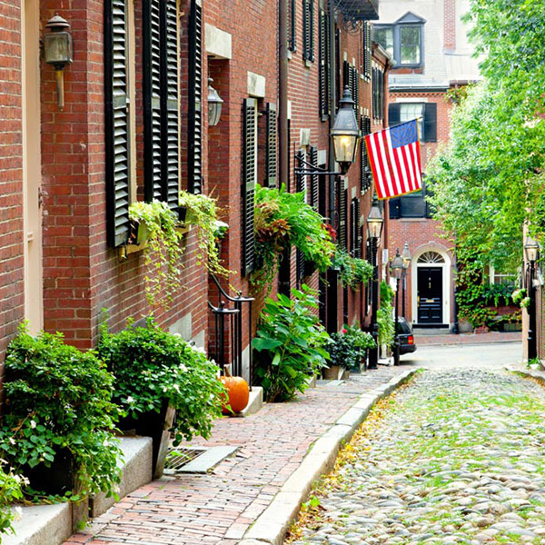 Calle en Boston, costa este EEUU