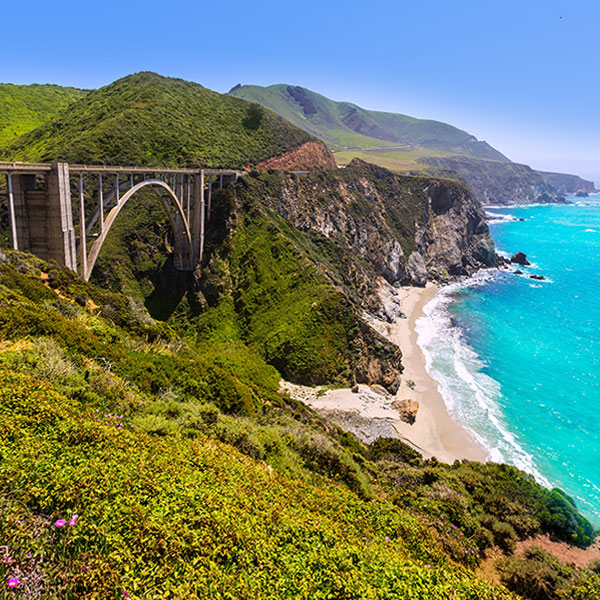 Fly and drive Big Sur California