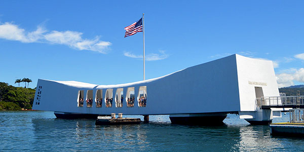 Monumento al USS Arizona en Pearl Harbor, Hawai