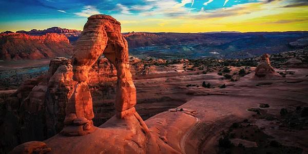 Parque Nacional de Arches en el oeste de Estados Unidos