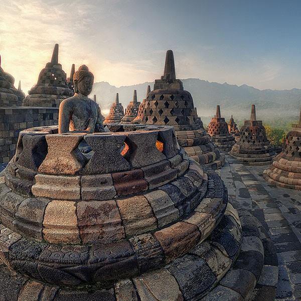 templo de Borobudur en Jogyakarta