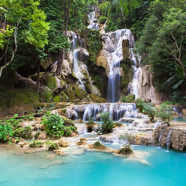 Cascadas Khouang Sy en Laos
