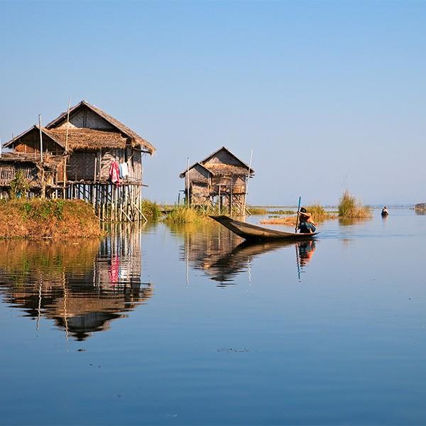 Lago Inle en el viaje a Birmania
