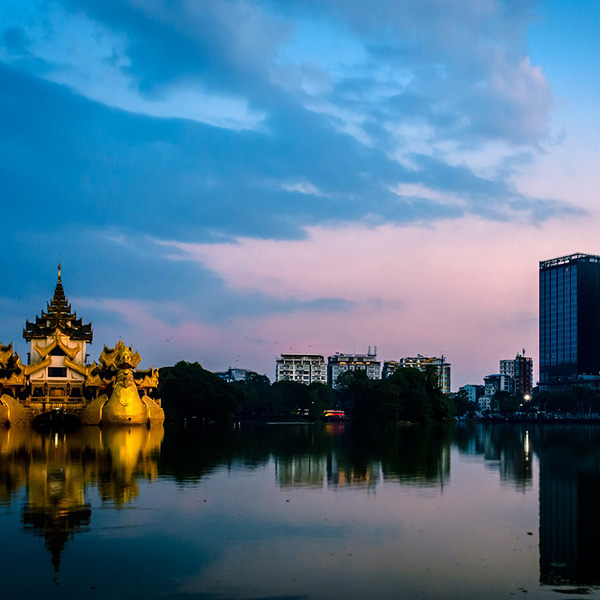 Yangon al atardecer