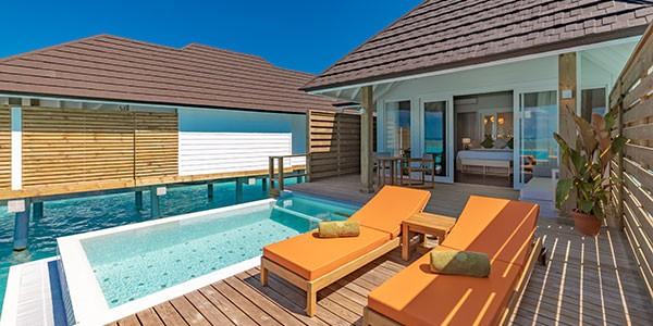 Grand Water Villa con piscina en Olhuveli Maldivas todo incluido
