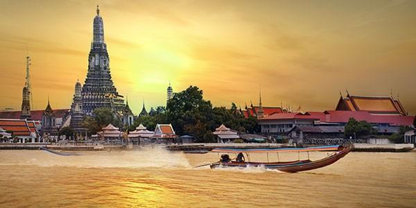 Rio Chao Praya en Bangkok