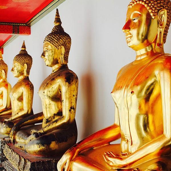 Buda de oro en Bangkok, Tailandia